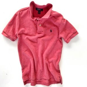 Boy's Red Cotton Mesh Polo Ralph Lauren  Sm (8)